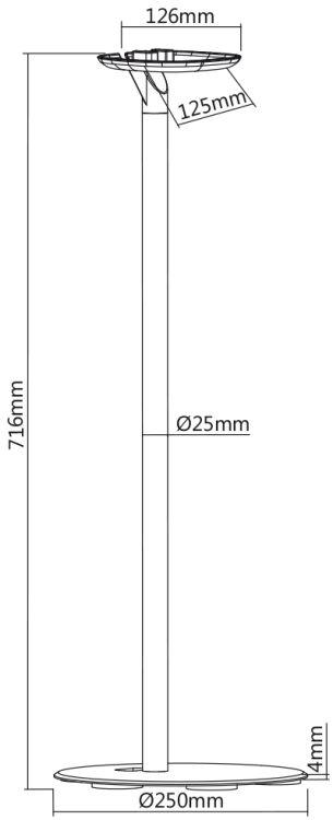 Ständer für SONOS ONE Lautsprecher,  schwarz,  2er Set