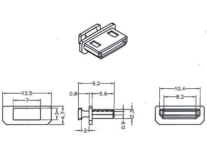 Delock® Staubschutz für HDMI mini-C Buchse, mit Griff, 10 Stück, schwarz [64027]