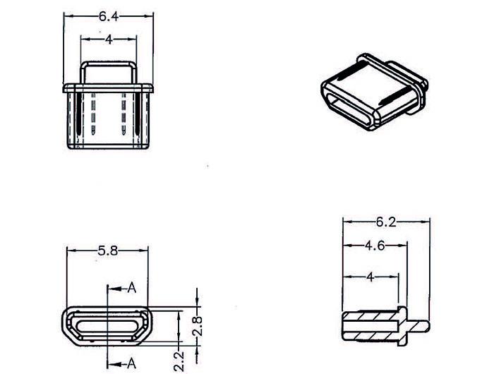Delock® Staubschutz für HDMI micro-D Buchse, mit Griff, 10 Stück, schwarz [64031]