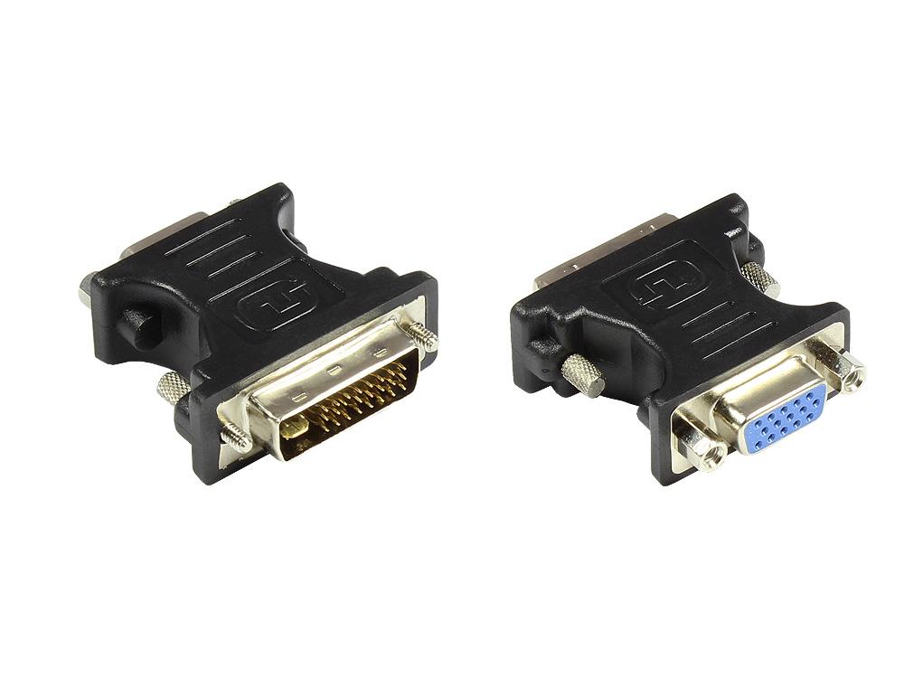 Adapter VGA-Buchse an DVI 24+5 Stecker, schwarz