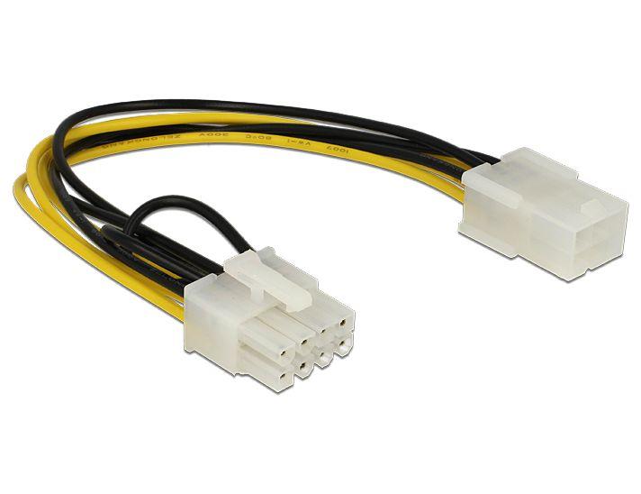 Delock® PCI Express 6 Pin Buchse an PCI Express 8 Pin Stecker, 20cm [83775]