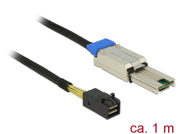 Delock® Kabel Mini SAS HD SFF-8088 an Mini SAS HD SFF-8643, schwarz, 1m [83620]