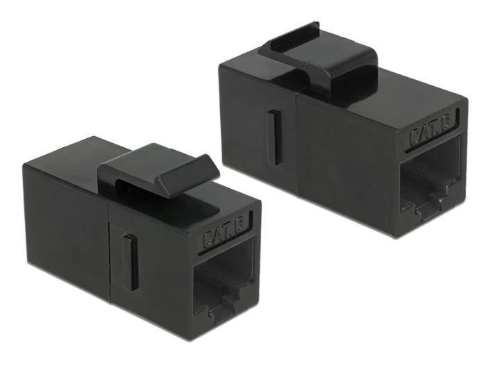 Delock® Keystone Modul RJ45 Buchse an RJ45 Buchse, Cat.6 UTP, schwarz [86381]