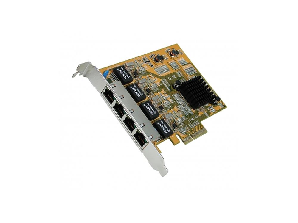 Exsys Quad Ethernet 1Gigabit LAN PCIe x4 Netzwerk-Karte [EX-6074-2]