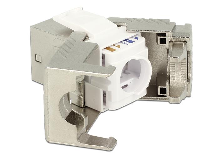 Delock® Keystone Modul RJ45 Buchse Cat.8, werkzeugfrei [86488]