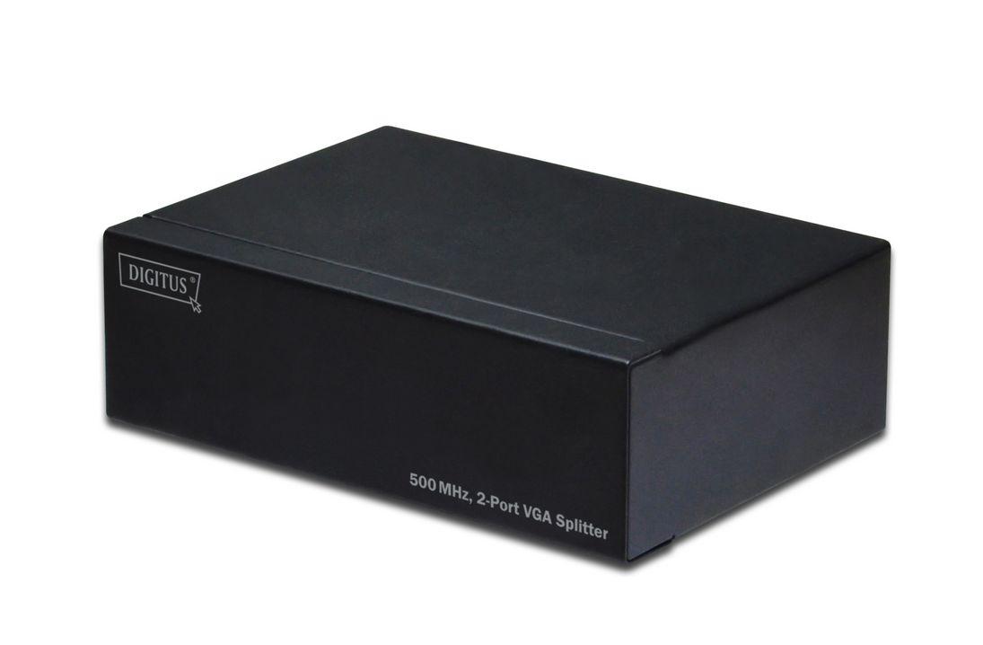 Video Splitter 2-fach, 400 MHz, Auflösung bis: 2048x1536, 60 Hz, schwarz
