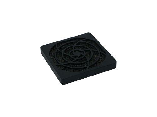 Filtergitter aus Kunststoff für 92mm Lüfter, Filtereinlage 45 ppi, schwarz