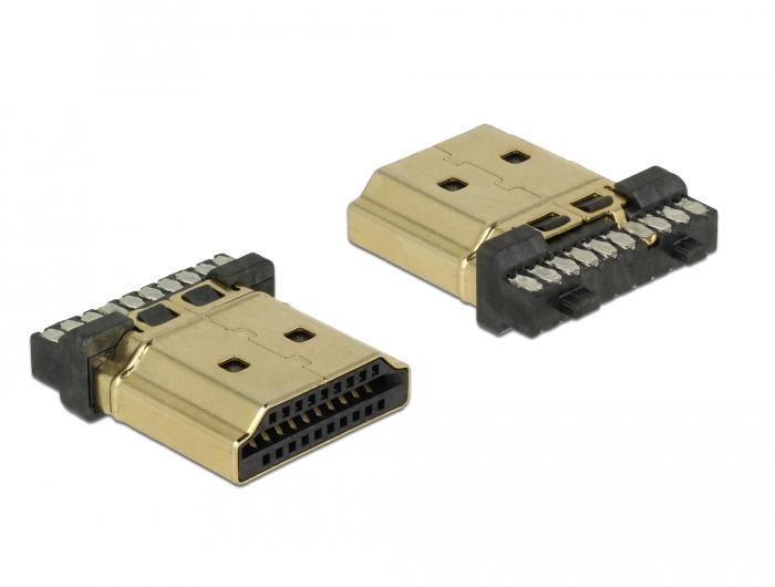 Delock® Steckverbinder HDMI-A Stecker, Kontakte mit Goldauflage [65886]
