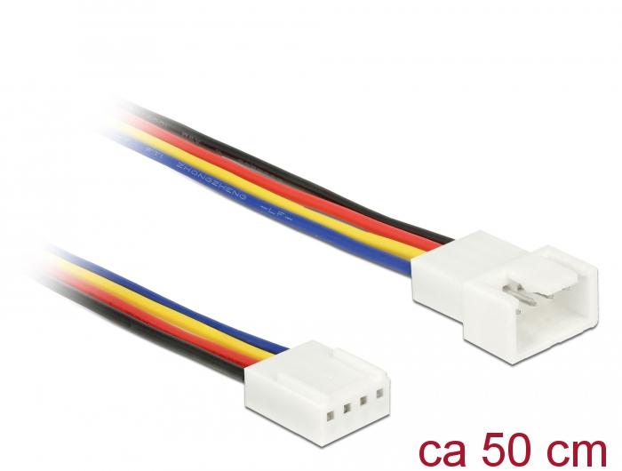 Delock® Verlängerungskabel PWM Lüfteranschluss 4 Pin, 0,50m [85362]