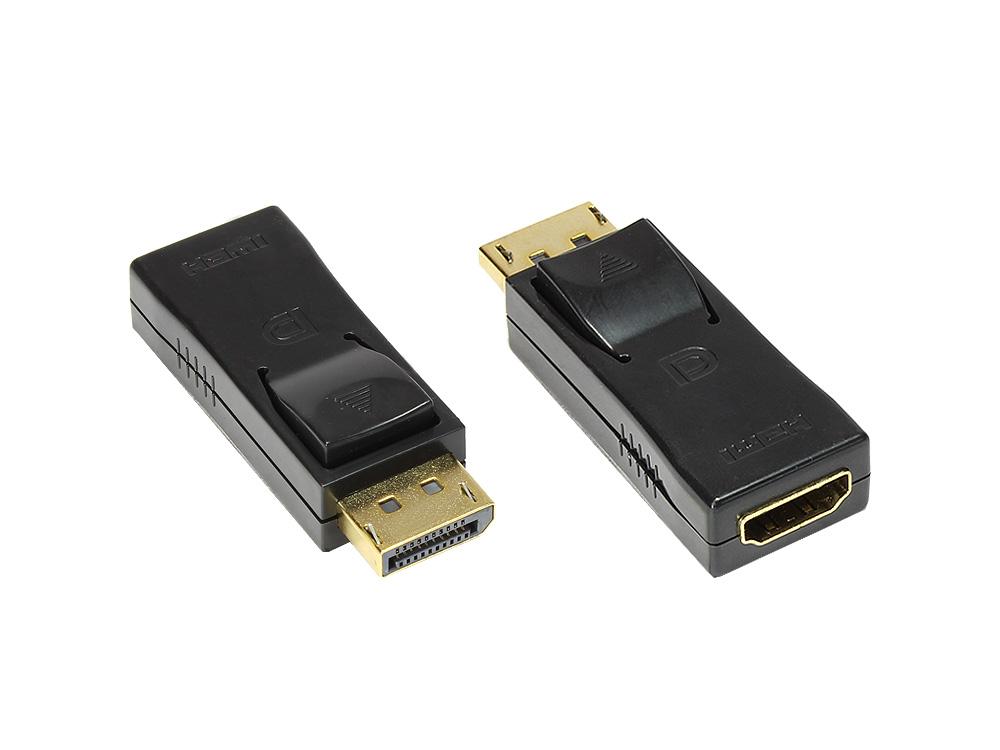 Adapter 20pol Displayport Stecker an HDMI Buchse A, vergoldet, schwarz