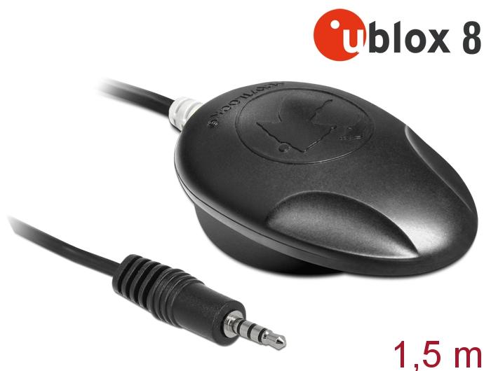Navilock® NL-8008T Klinke TRRS TTL Multi GNSS Empfänger, u-blox 8, schwarz, 1,5m [62586]