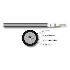 Universalkabel LWL OS2 (Singlemode 9/125) 12 Fasern, Meterware, Good Connections®