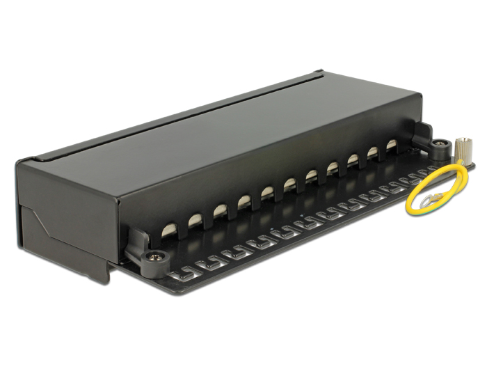 Delock® Desktop Patchpanel, Cat.6, 12-Port, schwarz [87296]