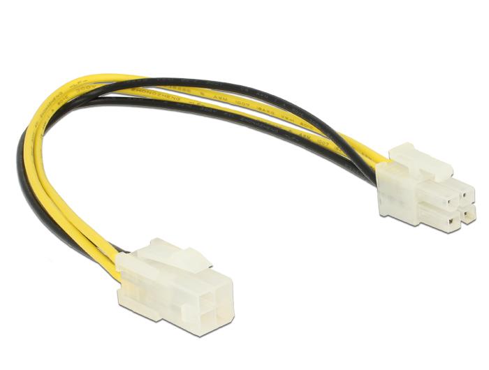 Delock® Verlängerungskabel P4 4 Pin Stecker an P4 4 Pin Buchse, 0,3m [84954]