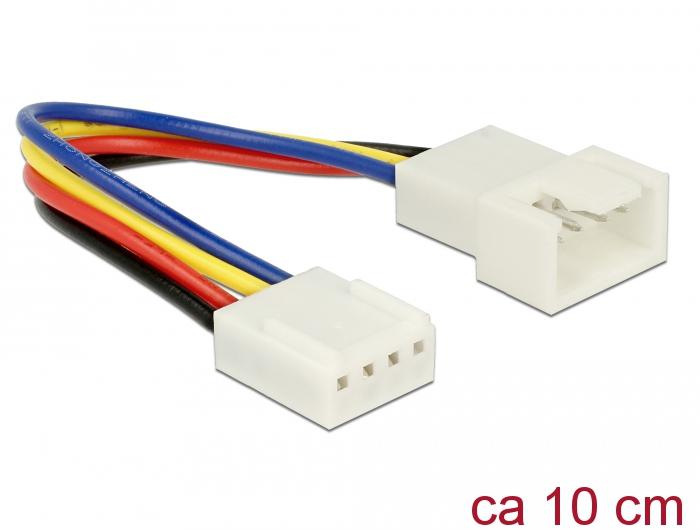 Delock® Verlängerungskabel PWM Lüfteranschluss 4 Pin, 0,10m [85360]
