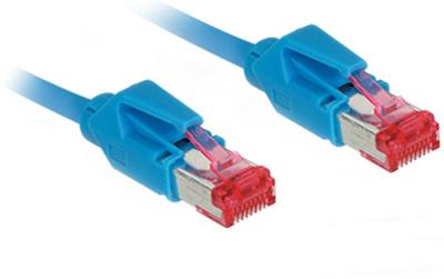 Patchkabel, Cat. 6A, S/FTP, PiMF, halogenfrei, 500MHz, Hirose-Stecker, blau, 10m