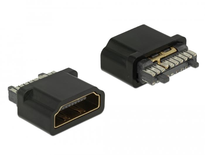 Delock® Steckverbinder HDMI-A Buchse, Kontakte mit Goldauflage [65885]