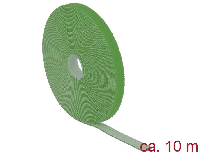 Delock® Klett-Kabelbinder L 10m x B 13mm, Rolle, grün [18728]