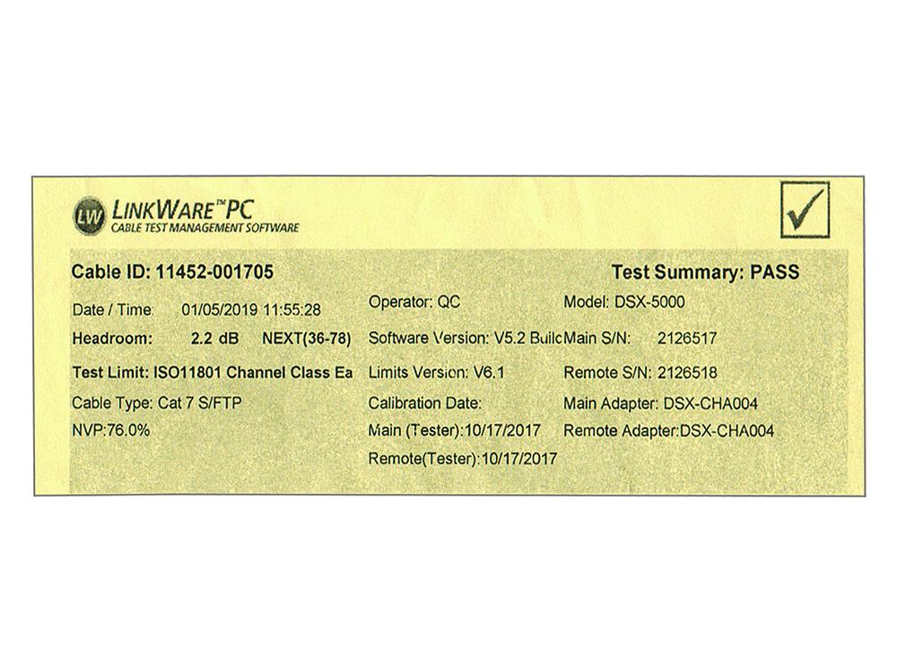 RNS® Patchkabel Cat.6A, S/FTP, PiMF, halogenfrei (LSZH), 500MHz, 10Gbit/s, grau, 2m