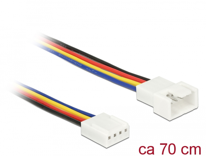 Delock® Verlängerungskabel PWM Lüfteranschluss 4 Pin, 0,70m [85363]