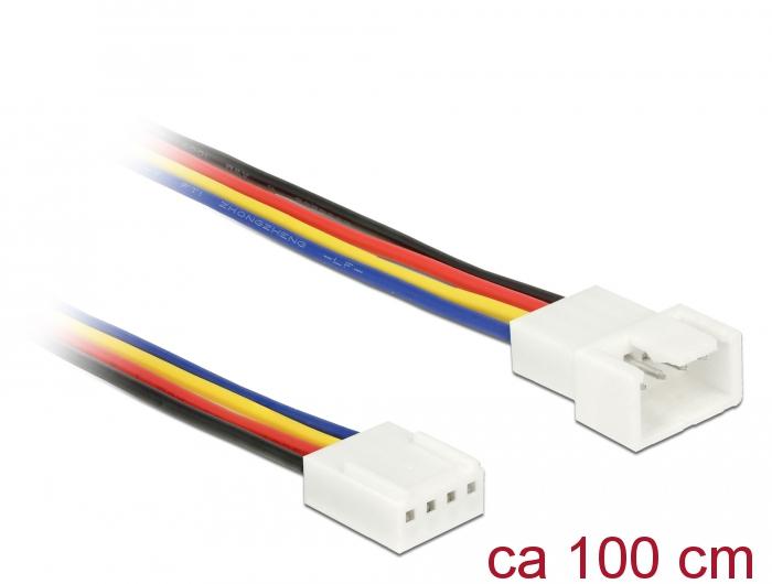 Delock® Verlängerungskabel PWM Lüfteranschluss 4 Pin, 1,00m [85364]
