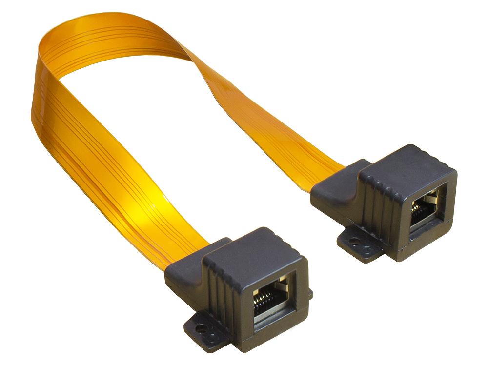 Ethernet Fensterdurchführung, Gesamtlänge inkl. Stecker 51cm, flexible Länge 44cm