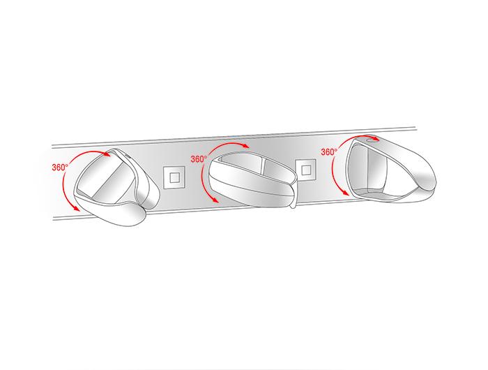 "Delock® 19"" Kabelmanagement Panel, universal, tiefschwarz [43345]"