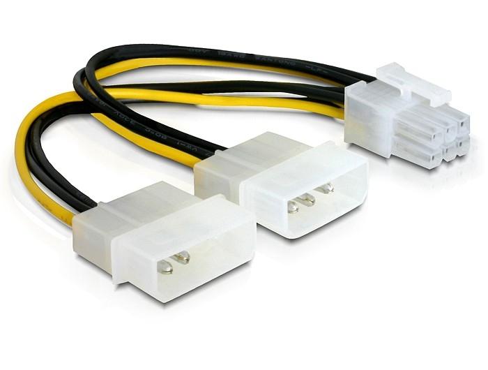 Delock Stromkabel für PCI Express Karten, 15cm